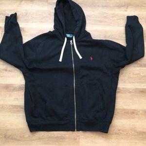 Black polo hoodie XXL